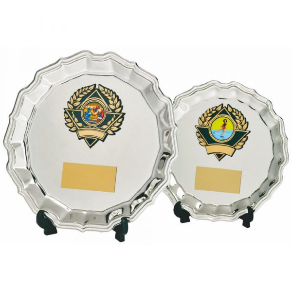 Silver Salver Award with Trim/Stand