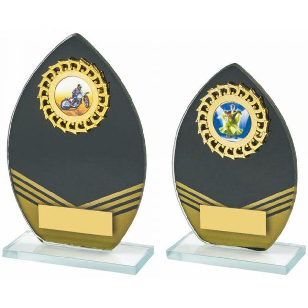 Black/Gold Glass Trim Award