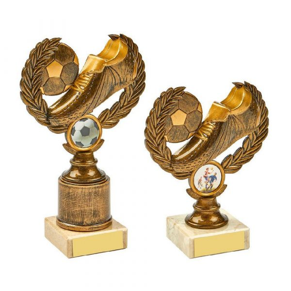 Antique Gold Boot/Ball Wreath Award