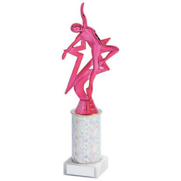 Pink Dancer Column Trophy
