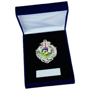 Silver Medal in Case - Choice of Flag