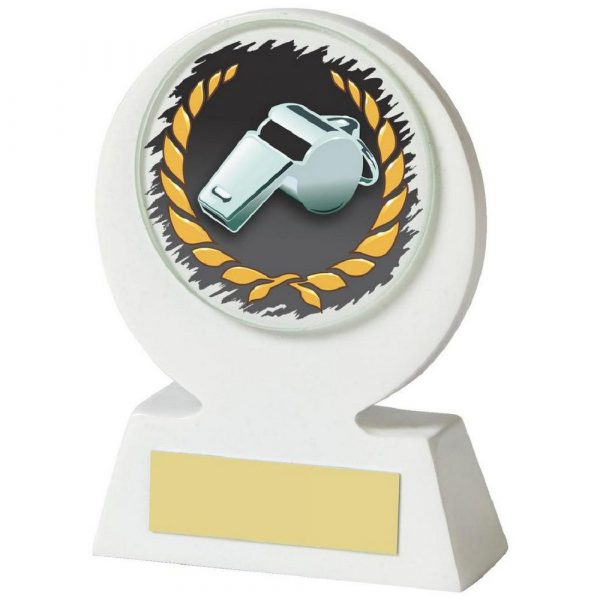 White Resin Referee's Whistle Award