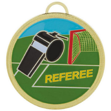Colour Enamelled Football Referee Medal