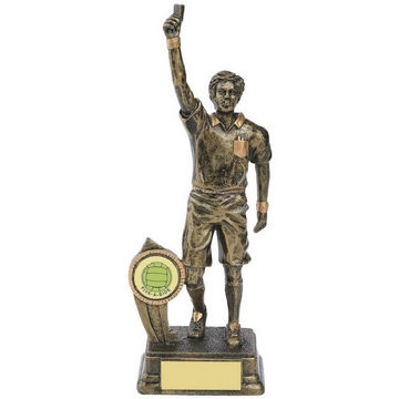 Gold Football Referee Figure Award