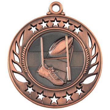 60mm Rugby Medal