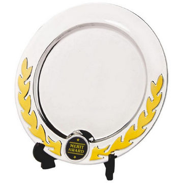 Silver Salver Award with Gold Wreath
