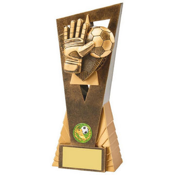 Antique Gold Football Goalie Edge Award