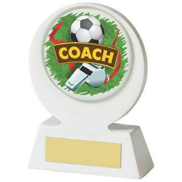 White Resin Football Coach Award
