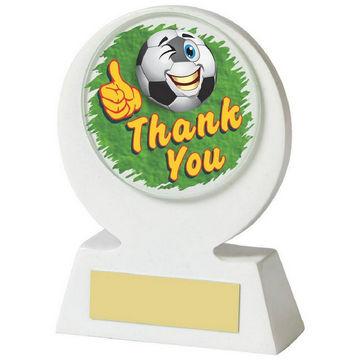 White Resin Football 'Thank You' Award