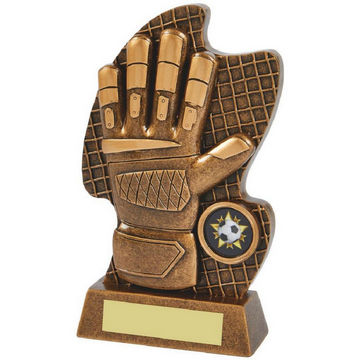 Resin Goalkeeper Glove Trophy
