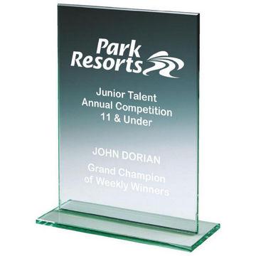 Jade Glass Rectangle Award