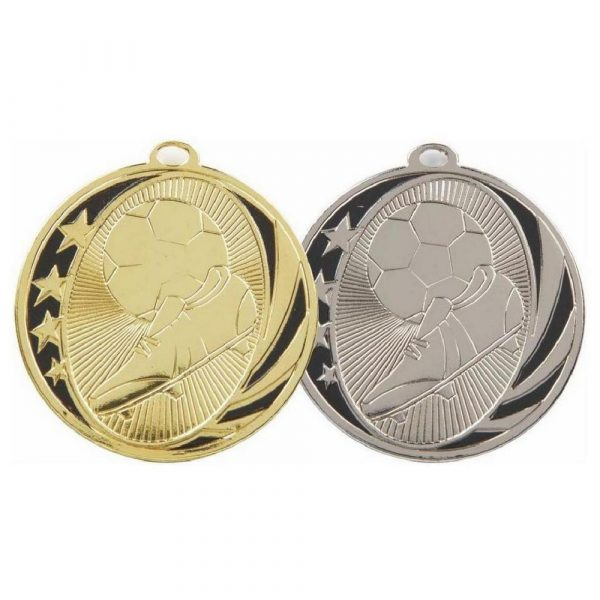 Gold & Silver Football Boot & Ball Medals