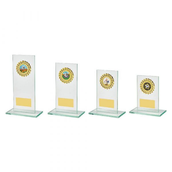 Jade Glass Stand with Gold Trim Award