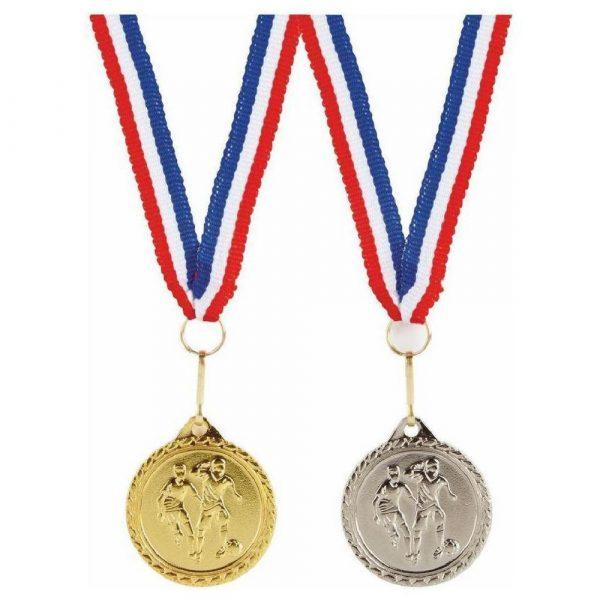 32mm Mens Football Medal with Ribbon