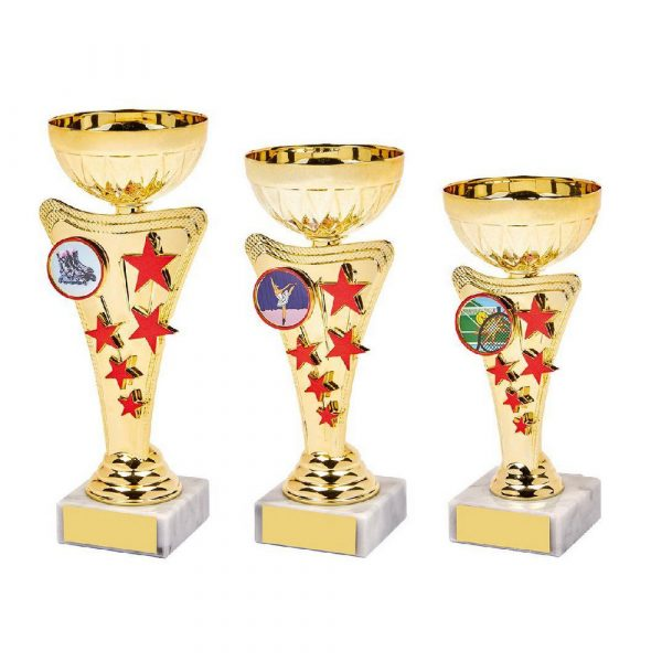 Gold/Red Star Trophy Cup