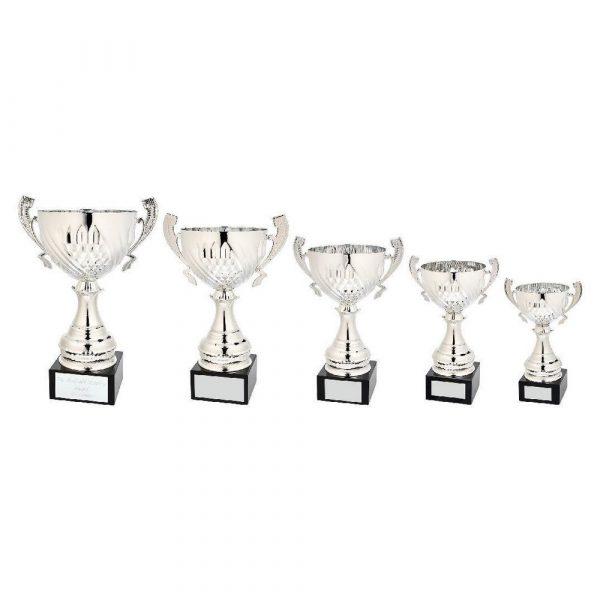 Silver Diamond Bowl Award with Handles