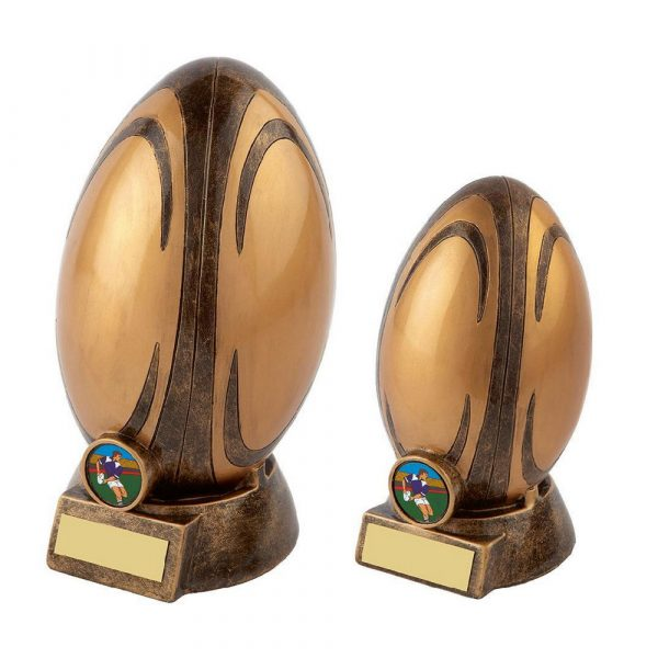 Gold Rugby Award - Ball on Kicking Tee