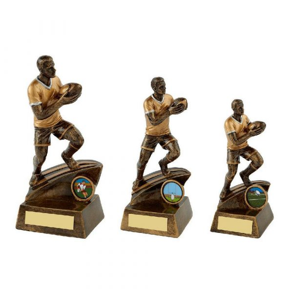 Gold Mens Rugby Figure Trophy