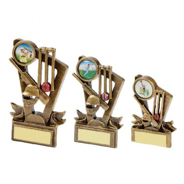 Gold Cricket Resin Trophy