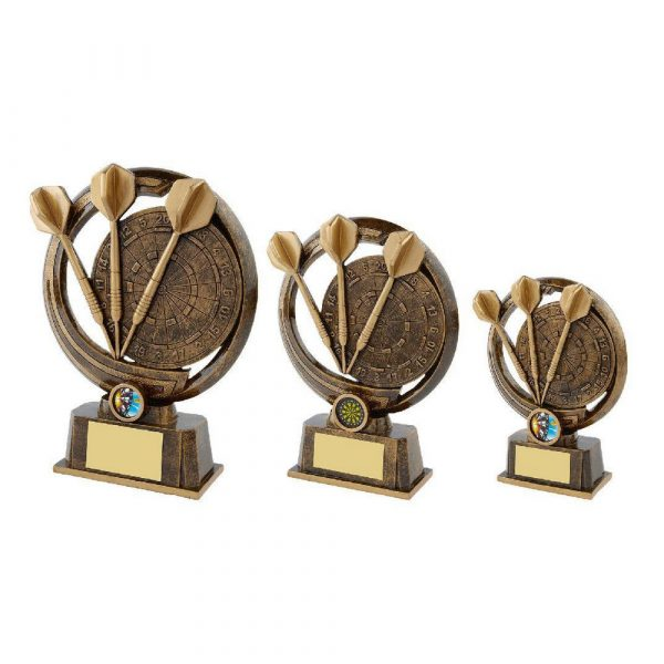 Gold Tri Darts Resin Award