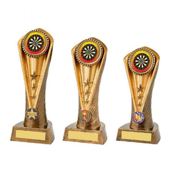 Antique Gold Darts Cobra Trophy