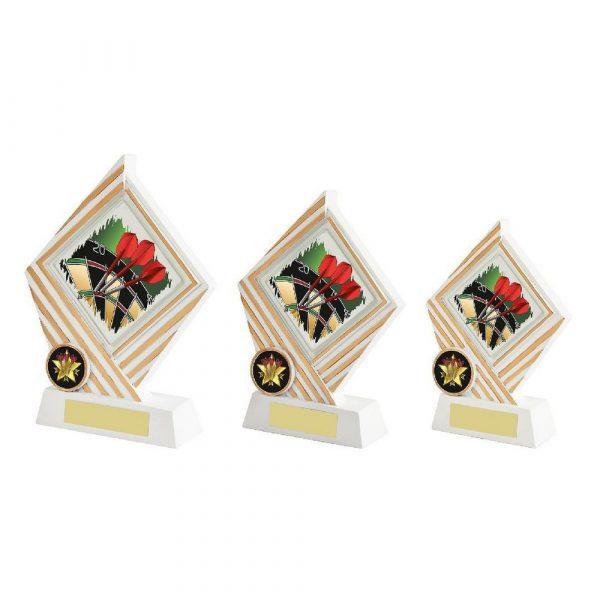 White/Gold Darts Diamond Resin Award