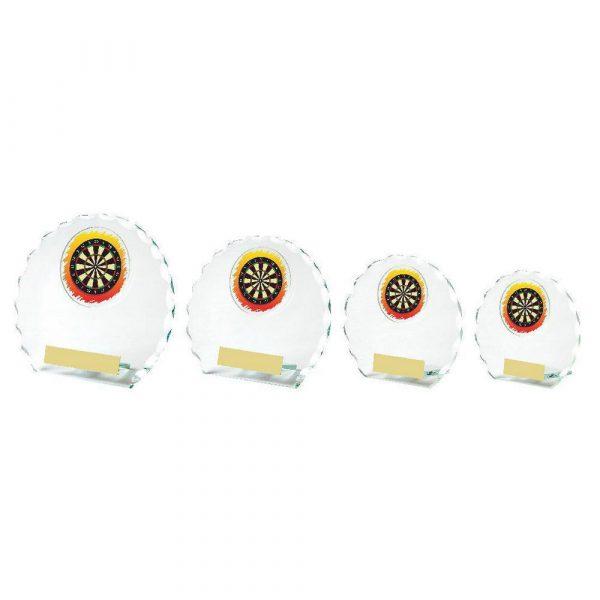 Round Jade Glass Darts Award