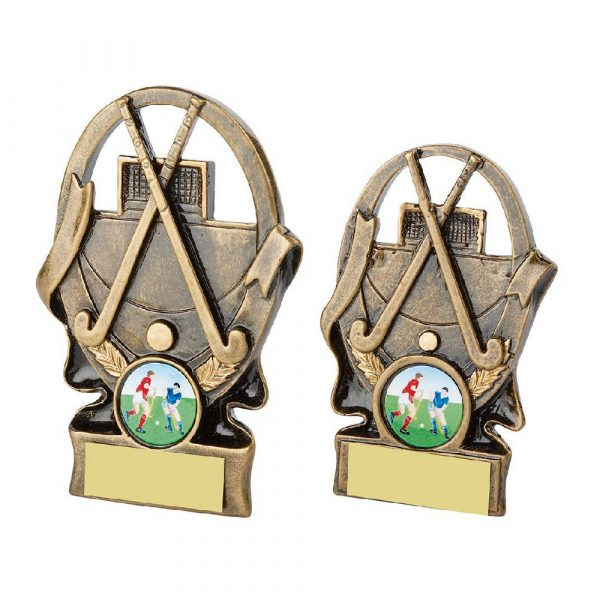 Gold Hockey Sticks and Ball Award
