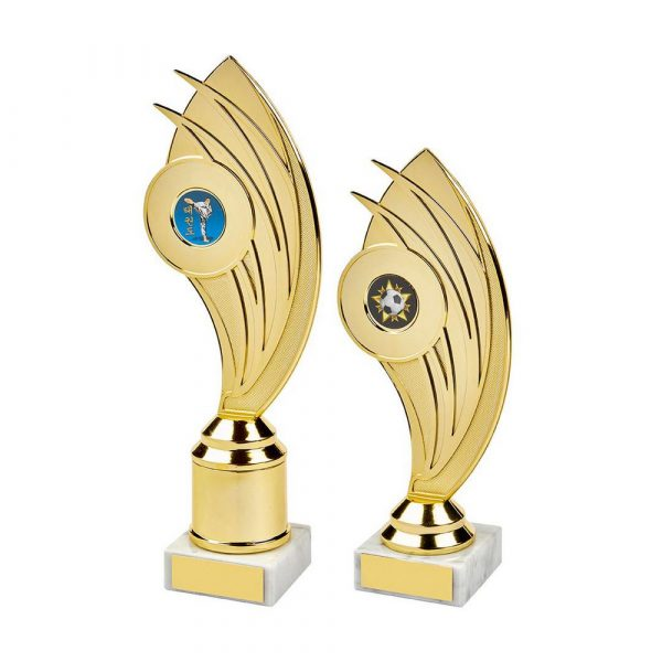 Gold Swoosh Curve Holder Trophy