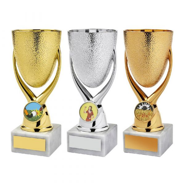 Gold/Silver/Bronze 'Egg Cup' Bowl Awards