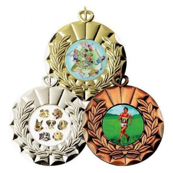50mm Sports Medal. Gold, Silver or Bronze