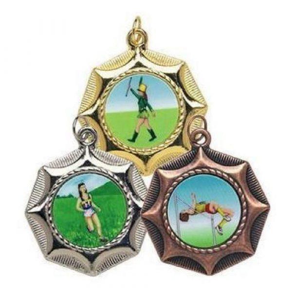 45mm Star Design Sports Medal