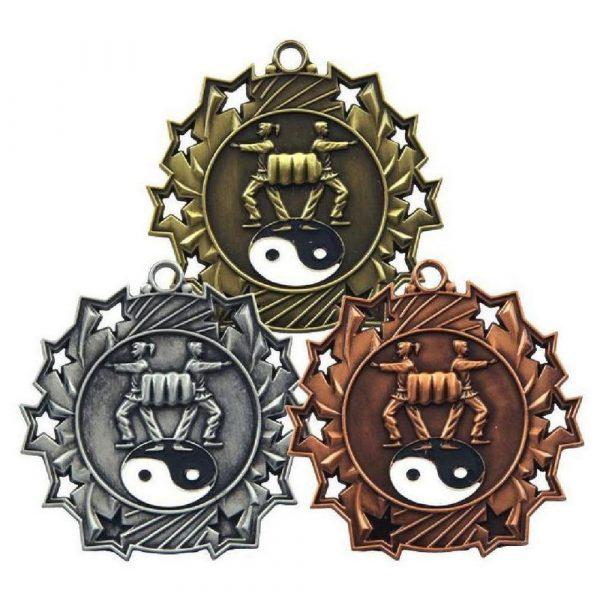 60mm Stars Martial Arts Medal