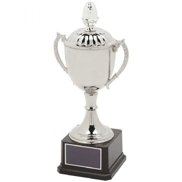 Classic Nickel Plated Trophy Cup with Lid