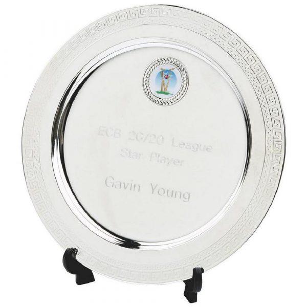 Round Silver Plate Salver Awards