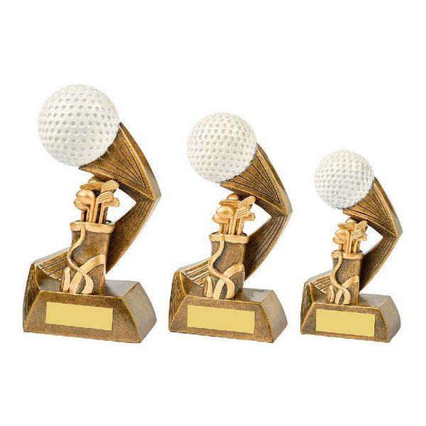 Antique Gold/White Golf Ball Action Award