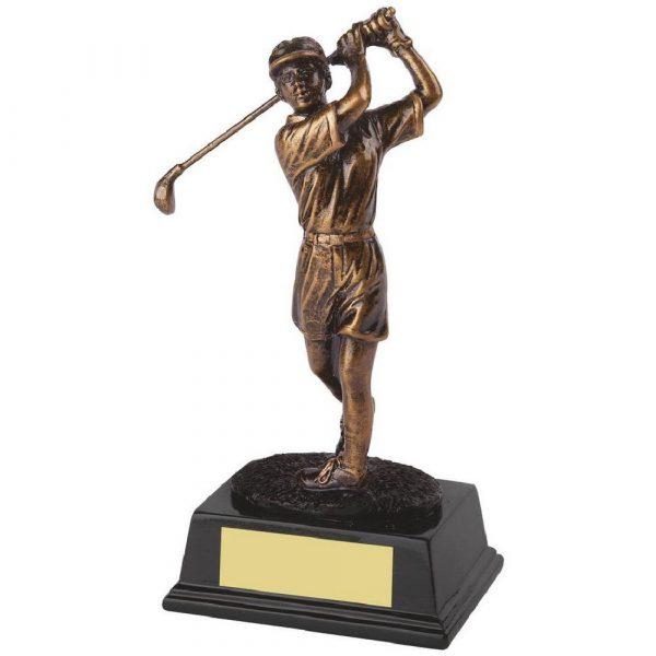 Gold Ladies Golf Figure Trophies