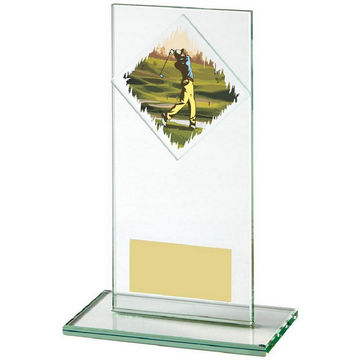 Jade Glass Upright Golf Award