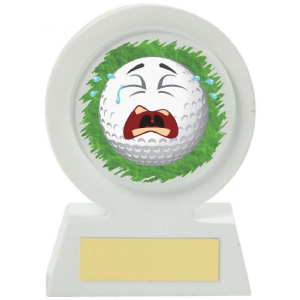 White Resin Golf Collectable - Crying