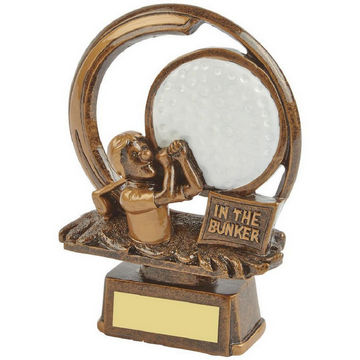 In the Bunker - Novelty Golf Trophy