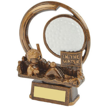 In the Water - Novelty Golf Trophy