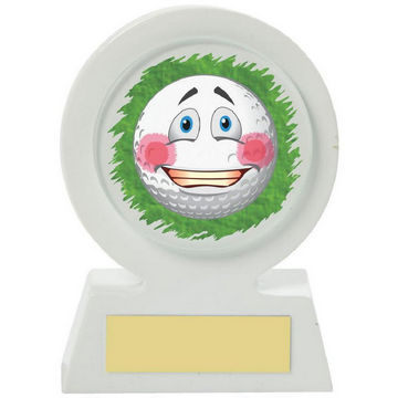 White Resin Golf Collectable - Embarrassed