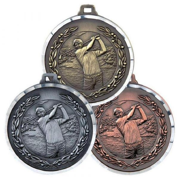Diamond Edged Men's Golf Medal