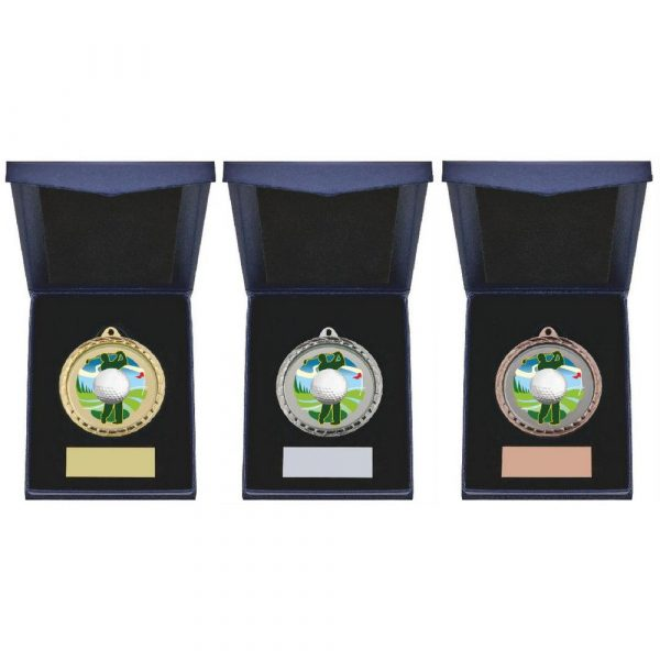 Golf Driver Medal in Presentation Case