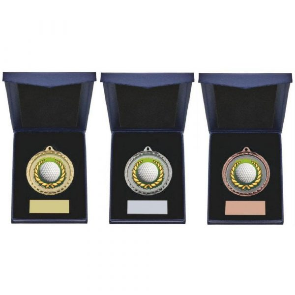 Golf Ball Insert Medal in Presentation Case