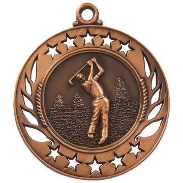 60mm Men's Golf Figure Medal