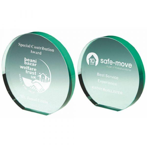 Jade Glass Circle in Presentation Case