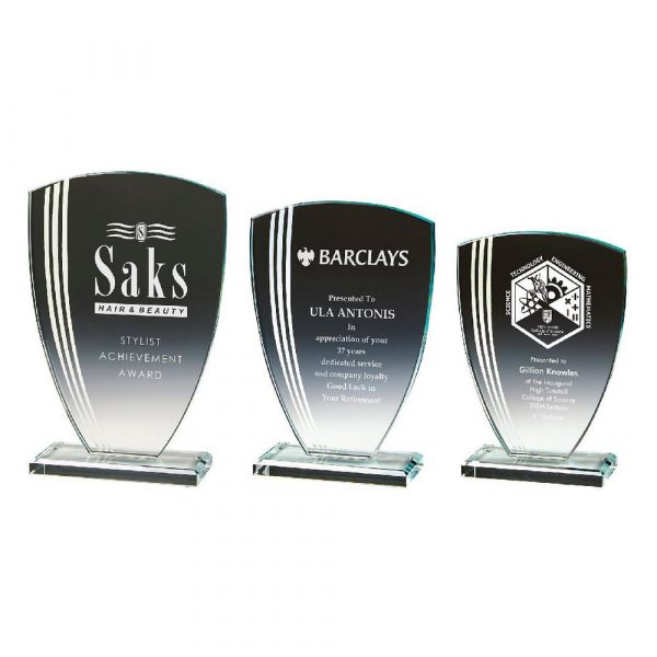 Silver Striped Glass in Presentation Box