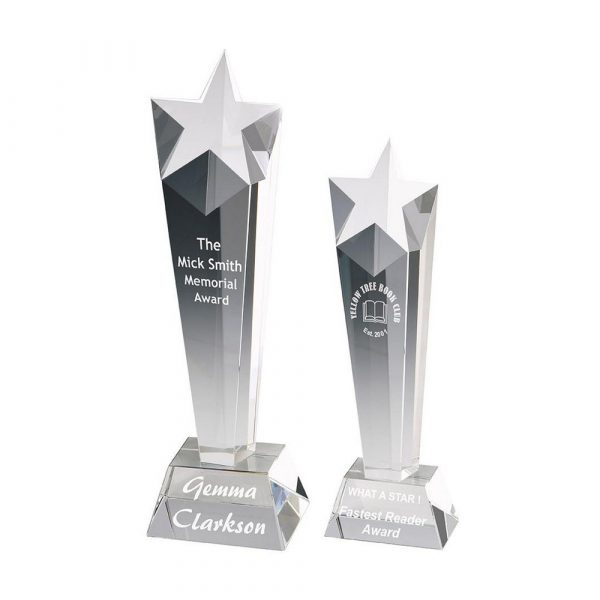 Star Column Trophy in Optical Crystal Awards