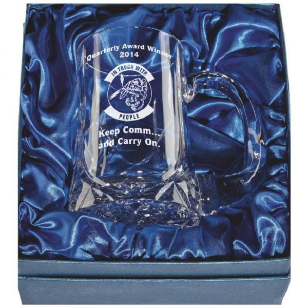 Crystal Tankard in Presentation Case with Panel